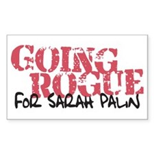 Going Rogue for Sarah Palin Rectangle Decal