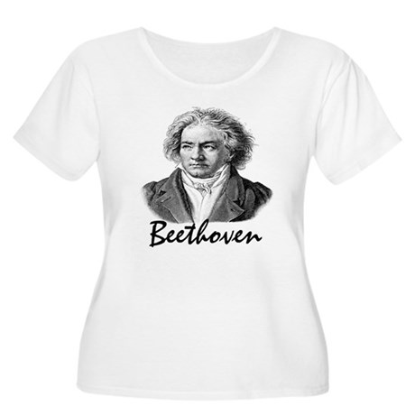 Beethoven Women's Plus Size Scoop Neck T-Shirt