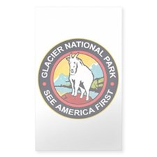 Glacier National Park Montana Rectangle Decal