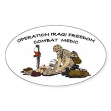Combat Medic OIF Support Oval Decal