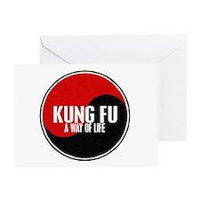 KUNG FU Way Of Life Yin Yang Greeting Card