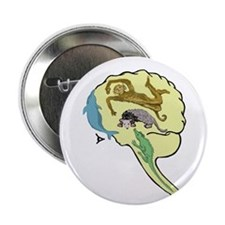 "Evolved Brain-b 2.25"" Button (100 pack)"