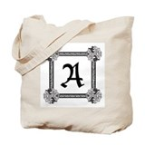 Medieval Celtic Monogram Totebag &quot;A&quot;