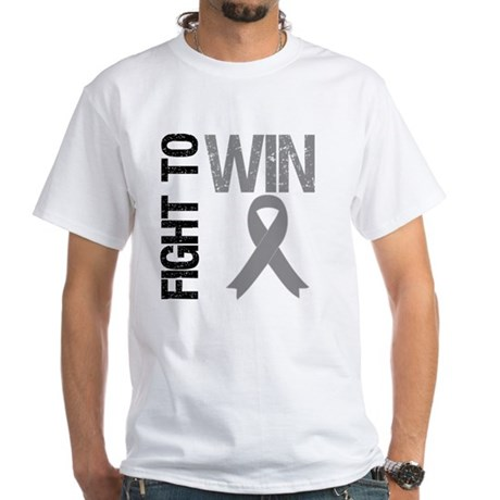 FightToWin Brain Cancer White T-Shirt