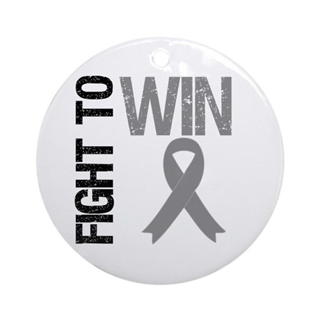 FightToWin Brain Cancer Ornament (Round)