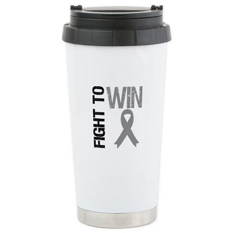 FightToWin Brain Cancer Ceramic Travel Mug