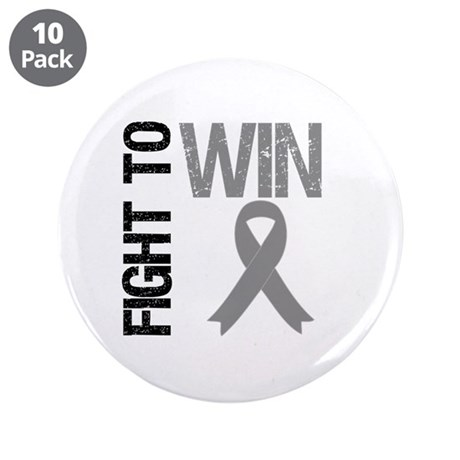 "FightToWin Brain Cancer 3.5"" Button (10 pack)"