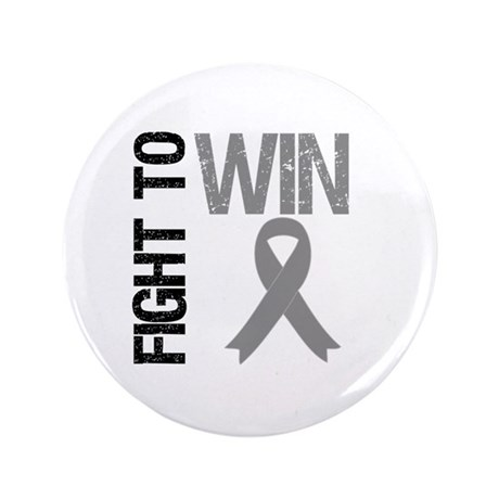 "FightToWin Brain Cancer 3.5"" Button"