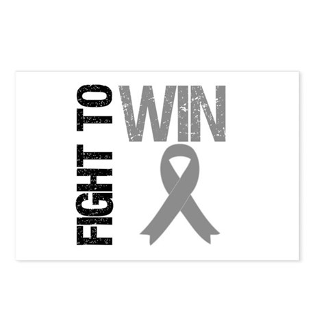 FightToWin Brain Cancer Postcards (Package of 8)