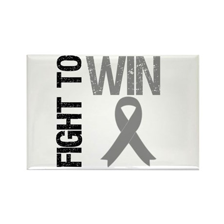 FightToWin Brain Cancer Rectangle Magnet