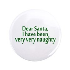 "Naughty Santa 3.5"" Button"