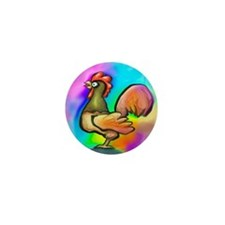 Cute Roosters Mini Button (100 pack)