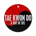 TAE KWON DO Way Of Life Yin Yang Ornament (Round)