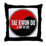 TAE KWON DO Way Of Life Yin Yang Throw Pillow
