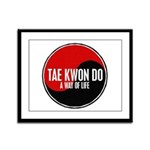 TAE KWON DO Way Of Life Yin Yang Framed Panel Prin