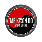 TAE KWON DO Way Of Life Yin Yang Wall Clock