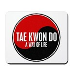 TAE KWON DO Way Of Life Yin Yang Mousepad