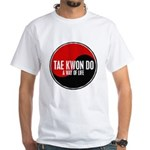 TAE KWON DO Way Of Life Yin Yang White T-Shirt