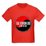 TAE KWON DO Way Of Life Yin Yang Kids Dark T-Shirt