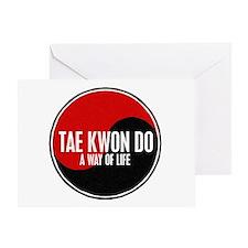 TAE KWON DO Way Of Life Yin Yang Greeting Card