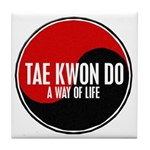 TAE KWON DO Way Of Life Yin Yang Tile Coaster
