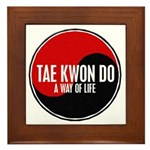 TAE KWON DO Way Of Life Yin Yang Framed Tile