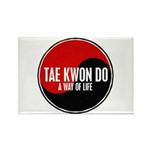 TAE KWON DO Way Of Life Yin Yang Rectangle Magnet