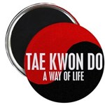 TAE KWON DO Way Of Life Yin Yang Magnet