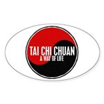 TAI CHI CHUAN Way Of Life Yin Yang Oval Sticker