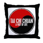 TAI CHI CHUAN Way Of Life Yin Yang Throw Pillow