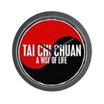 TAI CHI CHUAN Way Of Life Yin Yang Wall Clock