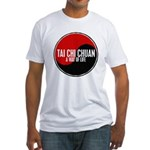 TAI CHI CHUAN Way Of Life Yin Yang Fitted T-Shirt