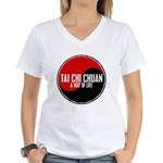 TAI CHI CHUAN Way Of Life Yin Yang Women's V-Neck