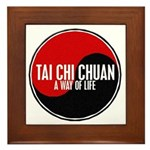 TAI CHI CHUAN Way Of Life Yin Yang Framed Tile