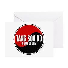 TANG SOO DO Way Of Life Yin Yang Greeting Card