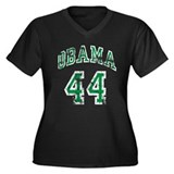 Obama 44th President grn Women's Plus Size V-Neck