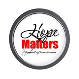 Lung Cancer Hope Matters Wall Clock