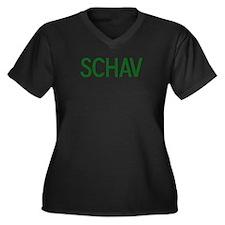 Schav Women's Plus Size V-Neck Dark T-Shirt
