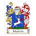 Mavrin Family Crest Small Poster