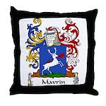 Mavrin Family Crest Throw Pillow