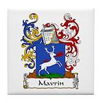 Mavrin Family Crest Tile Coaster