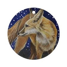 Fox Christmas Ornament (Round)