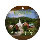 Vermont A Way of Life Ornament (Round)