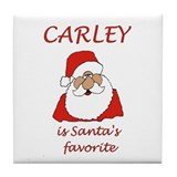Carley Christmas Tile Coaster