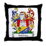 Mishin Family Crest Throw Pillow