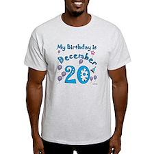 December 20th Birthday T-Shirt