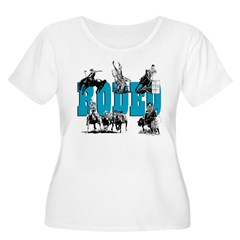 Rodeo Women's Plus Size Scoop Neck T-Shirt