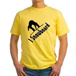 I Snowboard Yellow T-Shirt