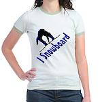 I Snowboard Jr. Ringer T-Shirt
