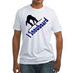 I Snowboard Fitted T-Shirt